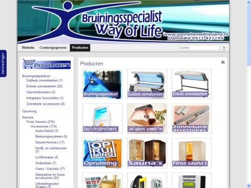 Zonnebank Sauna producten