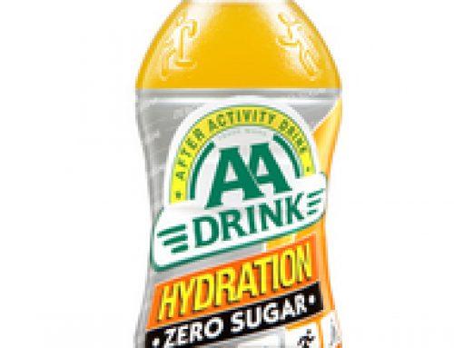 AA Drink Hydration; Nieuwe hypotone sportdrank met vitamines en zoetstoffen