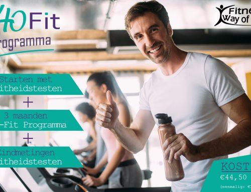 Start nu met het 40-FIT Programma