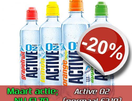 Maart actie; Active O2 sportdrank met 20% korting