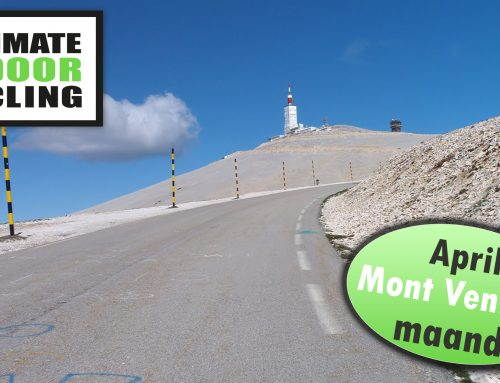 Indoor Cycling; April maand = Mont Ventoux