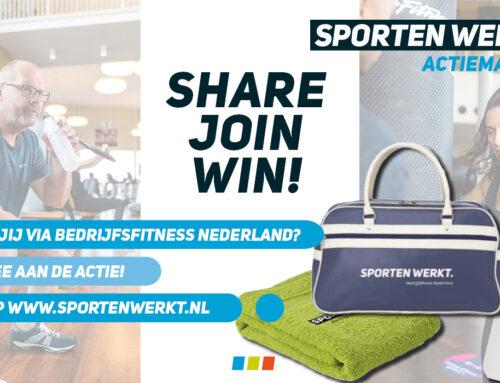 Sporten Werkt actiemaand; Win een cadeau naar keuze!!