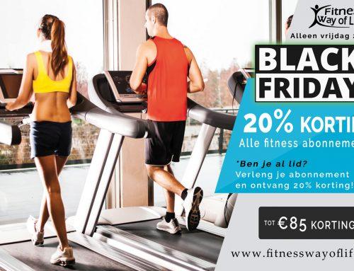 BLACK FRIDAY; 20% korting op alle fitness abonnementen!! Alleen aankomende vrijdag.