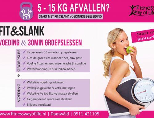 5 – 15kg gezond afvallen? Start NU met Fit&Slank voeding + 30minuten sporten!