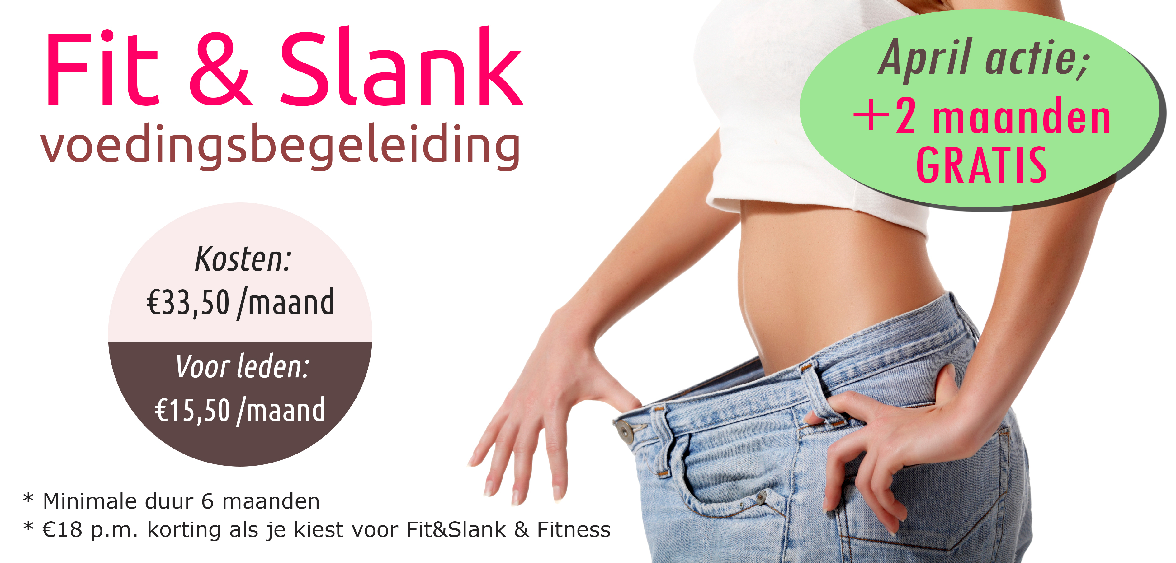 Fit&Slank voedingsbegeleiding - april +2 maanden gratis
