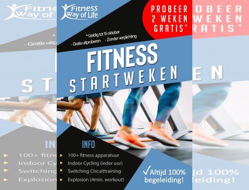 Fitness Startweken; 2 weken Gratis uitproberen…