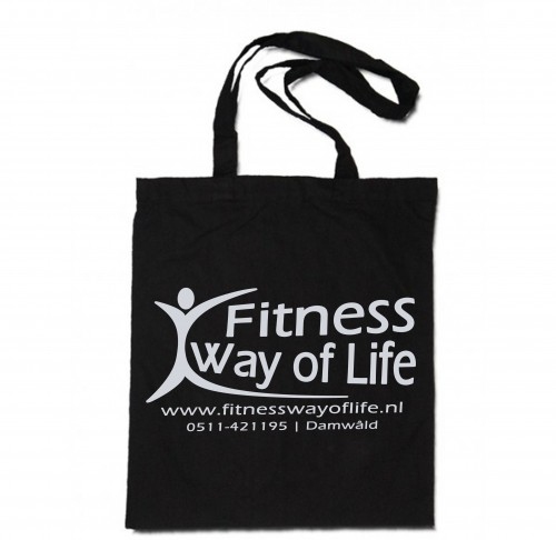 Fitness Way of Life katoenen tas