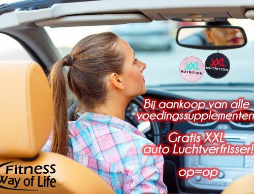 Bij aankoop van alle voedingssupplementen; Gratis XXL auto Luchtverfrisser!