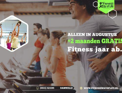 AUG | Sluit een Fitness onbeperkt jaar ab. af en krijg +2 maanden gratis!