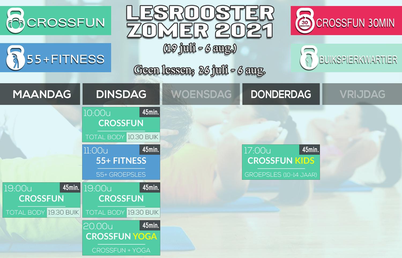 Zomer Lesrooster CrossFun