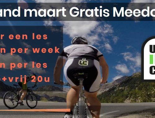 Actie; in maart de Ultimate Indoor Cycling uitproberen?