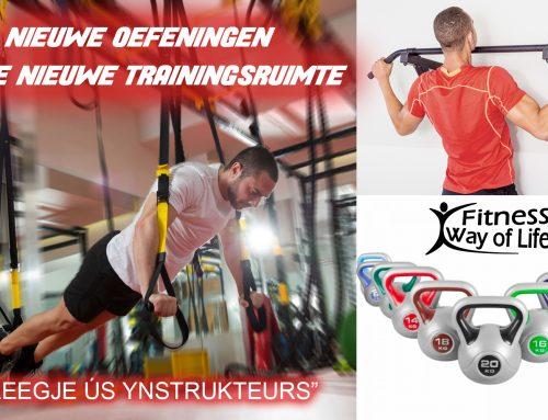Nieuwe oefeningen in de nieuwe trainingsruimte
