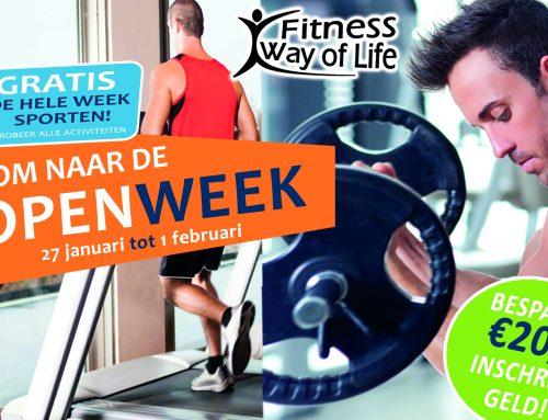 Open Week; 27 januari tot 1 februari! Gratis de hele week sporten…