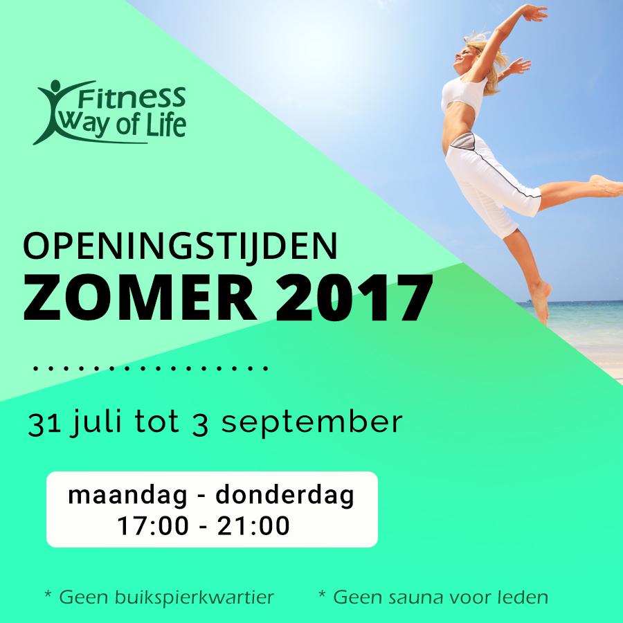Openingstijden zomer 2017