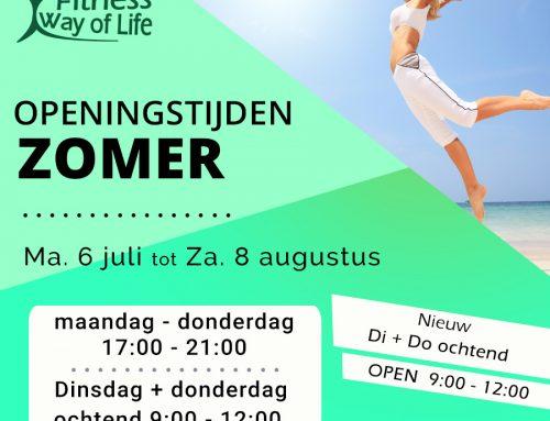 Openingstijden Zomer | 6 juli – 8 augustus
