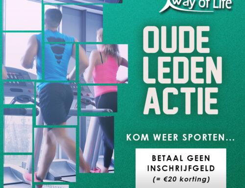 Oude leden actie | Kom weer sporten en betaal géén inschrijfgeld!!