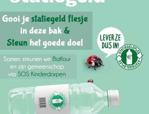 Statiegeld flesjes; Gooi ze in de bak & Steun het goede doel SOS Kinderdorpen!