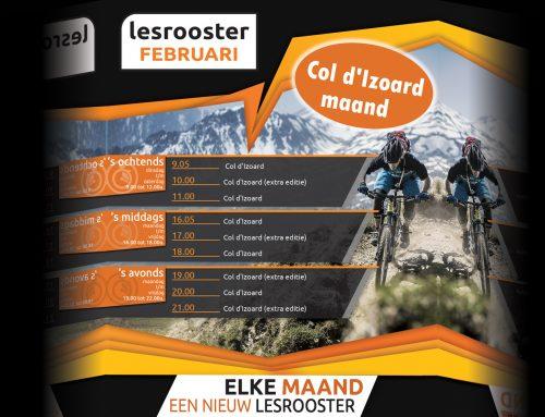 Indoor Cycling; Februari = Col d'Izoard