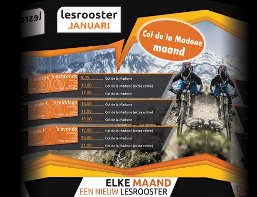 Indoor Cycling; Januari = Col de la Madone
