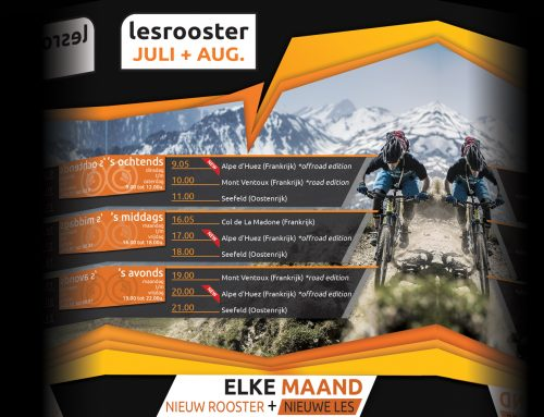 Indoor Cycling Juli + Aug.; Alpe d'Huez Offroad editie