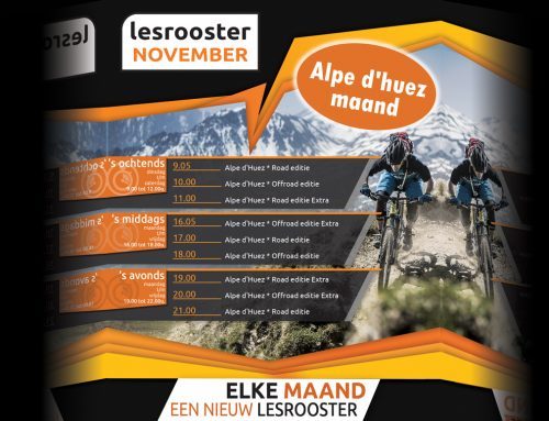 Indoor Cycling; November = Alpe d'huez maand