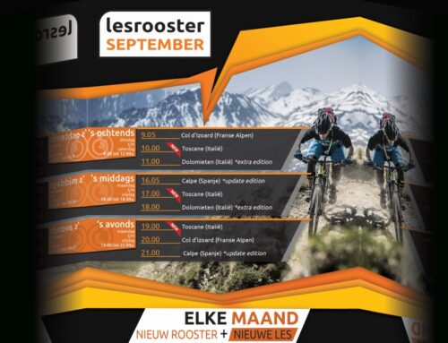 Indoor Cycling lesrooster; September 2021