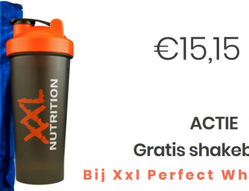 Gratis Shakebeker (600ml) bij Perfect Whey Protein (750gram)