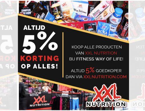 ALTIJD 5% korting op alle producten van XXL Nutrition!! Bestel & KOOP in onze sportkantine…