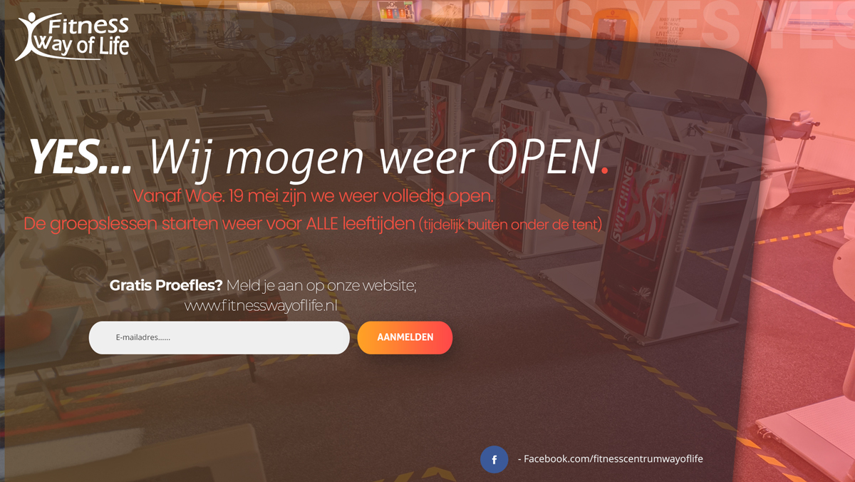 Yes… We mogen weer volledig OPEN!!