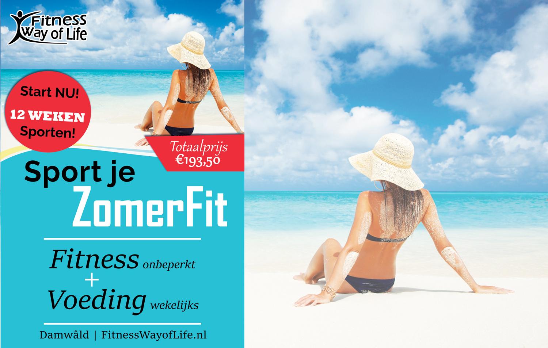 Start nu; Sport je in 12 weken ZomerFit   Fitness+Voeding (€60 korting)