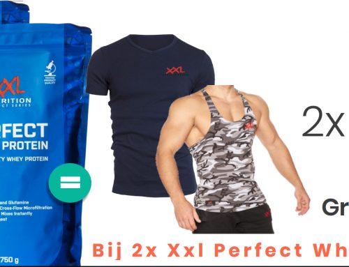 NU een gratis T-shirt of Tanktop bij 2 zakken eiwitten